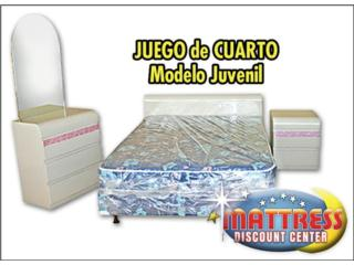 Juego de cuarto Juvenil-NUEVO MADERA CON MATTRESS!, Mattress Discount Center Puerto Rico