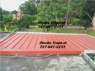 TECHO EN ALUMINIO TERRAZA, Diseño Tropical Puerto Rico