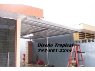 TECHOS GALVANIZADOS CON COLORES , Diseño Tropical Puerto Rico