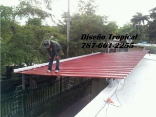 TECHO EN TERRAZA, Diseño Tropical Puerto Rico