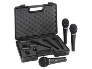Set de tres microfonos Behringer con estuche, Baldorioty Music Puerto Rico