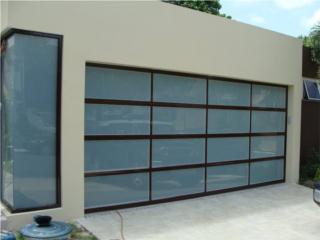 PUERTA GARAGE MODELOS EN CRISTALES DE LUJO, PUERTO RICO GARAGE DOORS INC. Puerto Rico