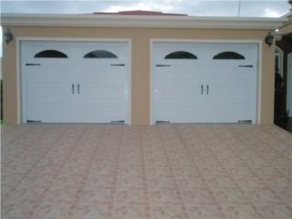 PUERTA GARAGE MODELOS NUEVOS DOBLES, PUERTO RICO GARAGE DOORS INC. Puerto Rico