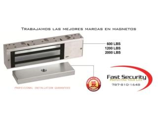 magnetic lock 600 lbs office busines, FAST SECURITY  Puerto Rico