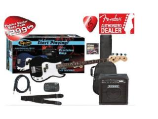 Fender Affinitty Jazz Bass Pack, Music Access Store, Ave. De Diego, Puerto Nuevo Puerto Rico