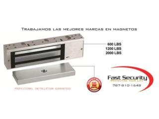 oficina ,comercio  magnéticas 600 lbs , FAST SECURITY  Puerto Rico