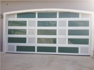 PUERTA GARAGE MODELO EN ALUMINIO Y CRISTAL, PUERTO RICO GARAGE DOORS INC. Puerto Rico