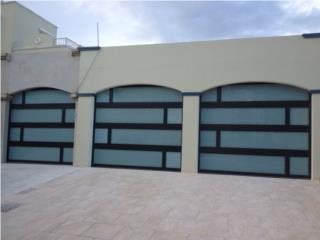 PUERTA GARAGE MODELO LUXURY  TRES MARQUESINA, PUERTO RICO GARAGE DOORS INC. Puerto Rico