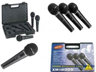 Set de 3 microfonos Behringer con estuche, Music & Technology Puerto Rico
