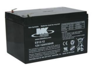 Bateria MK 12-12 PAR, Equipos Pro-Impedidos Inc. Puerto Rico