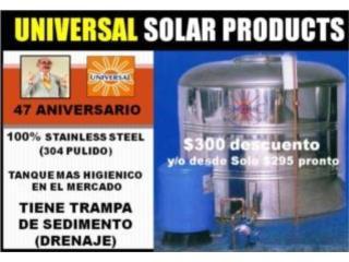 CISTERNA ST. ST. 450 GLS MOTOR  Y PRESURIZADO, UNIVERSAL SOLAR, 787-817-5555 OFIC. CENTRAL Puerto Rico