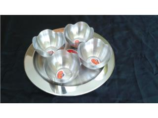 MINI BANDEJA TRAY SET STAINLESS STEEL, IB STORE ibstorepr.com  (Horario Martes a Jueves) Puerto Rico