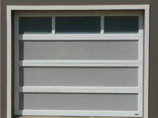 Puerta De Garage En Aluminio Combinada, EURO GARAGE DOORS Puerto Rico