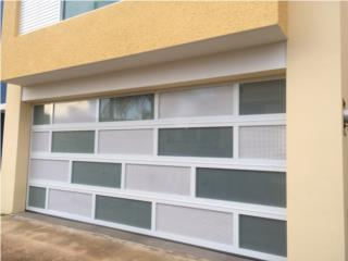 Puerta garage modelo combinada nuevos 2020, PUERTO RICO GARAGE DOORS INC. Puerto Rico