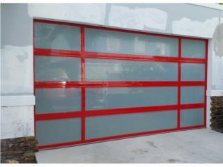 Puerta De Garage En Aluminio y Cristal, EURO GARAGE DOORS Puerto Rico