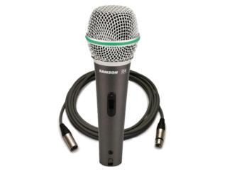Microfono SAMSOM Q4 con CABLE, STEVAN MICHEO MUSIC Puerto Rico