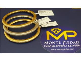 SET PULSERAS TRICOLOR 18KT CON DIAMANTES, Monte Piedad, Inc. Puerto Rico