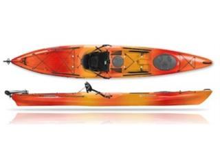 Tarpon 140 con Rudder para Aventuras y Pesca, Aqua Sports Kayaks Distributors Puerto Rico 1991 Puerto Rico