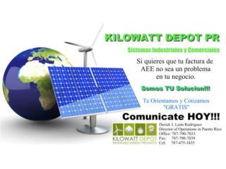 Sistemas Comerciales $0 inversion, Kilowatt Depot  Puerto Rico