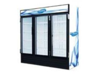 NEVERA 3 puertas CRISTAL/65cuft...$3,735.00, AA Industrial Kitchen Inc Puerto Rico