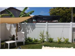 Verja PVC Modelo: Full W/ Louver on Top, Pro Fence Puerto Rico