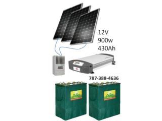 Planta de Baterias y Solar Off Grid, 24/7 Planta Solar Puerto Rico