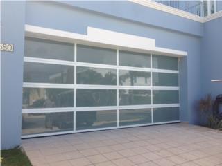 MODELO DE PUERTAS NUEVO EN ALUMINIO , PUERTO RICO GARAGE DOORS INC. Puerto Rico