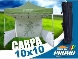 San Juan Puerto Rico Enseres Neveras, Carpa 10x10 *FULL KIT* Personalizada