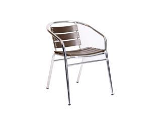 Silla Parma de aluminio y polywood gris, Furniture Warehouse Outlet: Contract Division Puerto Rico