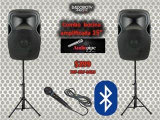 Como completo de 2 Audiopipe 15, Baldorioty Music Puerto Rico