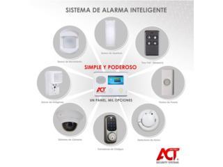 ALARMA CON SENSORES Y CAMARAS DE SEGURIDAD, intelACT Security Systems Puerto Rico