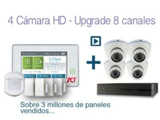 SISTEMA DE 4 CAMARAS HD CON DVR+ALARMA GRATIS, intelACT Security Systems Puerto Rico