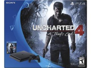 PS4 Playtation 4 Slim Uncharted 4 $299.99, PRO Electronics Puerto Rico
