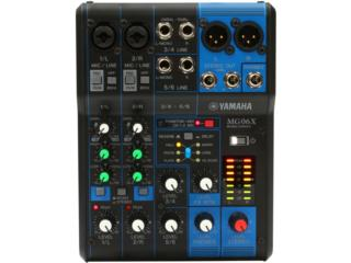 Consola Yamaha MG06X ( 6 canales con FX) , STEVAN MICHEO MUSIC Puerto Rico