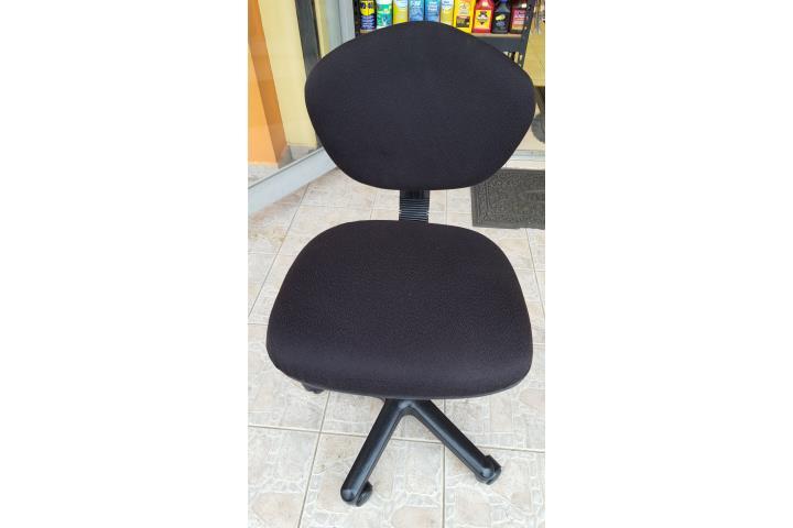 Sillas secretariales en color negro puerto rico for Sillas secretariales