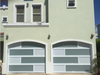 Puerta Aluminio Combinada Cristal y Perforada, EURO GARAGE DOORS Puerto Rico