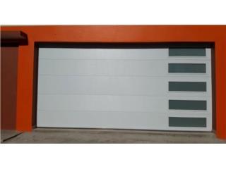 Puerta De Garage Insulada Con Cristal al Lado, EURO GARAGE DOORS Puerto Rico