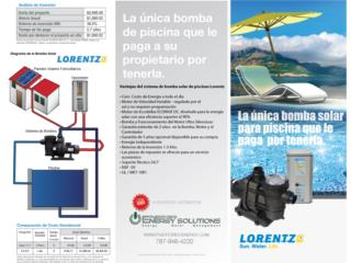 Bomba solar de  piscina, Homeworks Corp./Puerto Rico Energy Solutions Puerto Rico