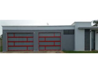 Puerta Para Garage en Aluminio y Cristal , EURO GARAGE DOORS Puerto Rico