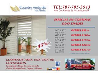 LLEGARON LA READY SHADES!!!OFERTAS 45% OFF , COUNTRY VERTCALS & SHADES Puerto Rico
