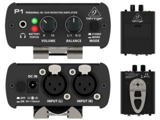 Sistema de monitoreo personal Behringer P1, Baldorioty Music Puerto Rico