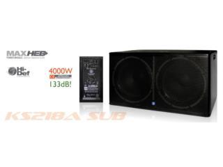 Bajo amplificado Topp Pro doble 18