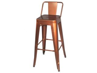Barstool Estilo Industrial Color Bronze, Furniture Warehouse Outlet: Contract Division Puerto Rico
