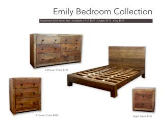 Juego de cuarto Emily Tama�o Full, Furniture Warehouse Outlet: Contract Division Puerto Rico