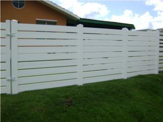 Verja PVC Modelo: Horizontal Semi-Privacy, Pro Fence Puerto Rico