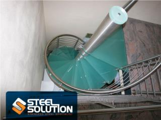Escaleras en espiral de Stainless Steel, Steel Solution, LLC Puerto Rico