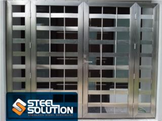 Portón en Stainless Steel, Steel Solution, LLC Puerto Rico