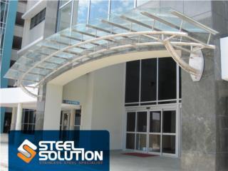 Techo en Stainless Steel Cristal o Acero, Steel Solution, LLC Puerto Rico
