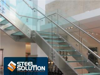 Escaleras Stainless Steel Cristal o Flotantes, Steel Solution, LLC Puerto Rico