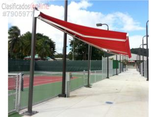 Toldo Retractable 18' ancho; Proyección 6' 6, MG Inter / Space Designs Puerto Rico